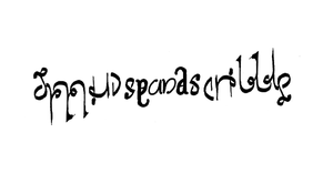 smudgeandscribble ambigram by Weegraphicsman