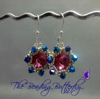 Supernova Earrings in Rose by beadg1rl