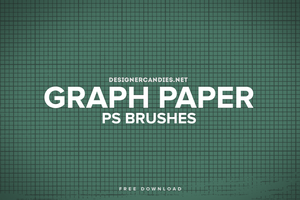 Free Graph Paper Brush Set for Photoshop by DesignerCandies