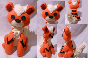 Growlithe Plush ~Sold~ by FuzzyAliens