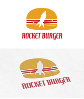 Space Burger Logo by polska753