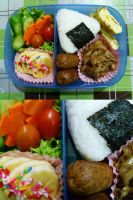 banana mushroom bento by plainordinary1