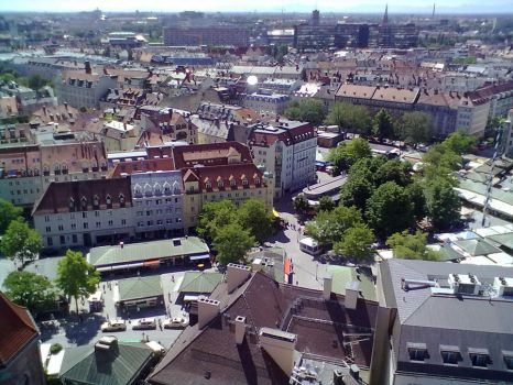 Top View of Munich 32 by Saphierra