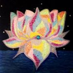 Rainbow Lotus by paintforworldpeace