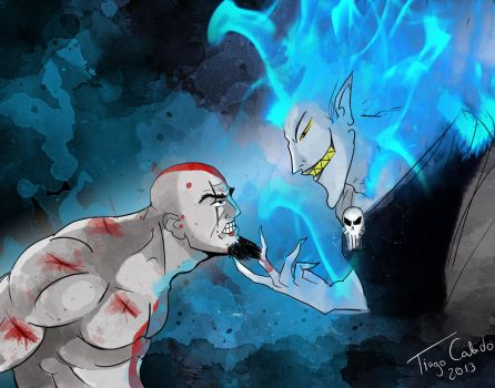 Kratos vs Hades by Tiagotac