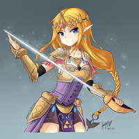 Princess Zelda [HW] - COLOR by SandraGH