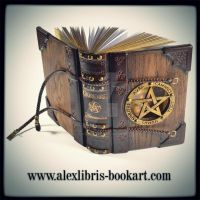 The Necronomicon journal - 9 x 7 inches wooden/le by alexlibris999