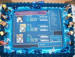 Final Fantasy Birthday Cake 1 by ChaoticBlossoms