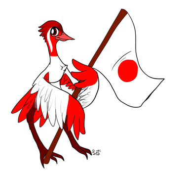 Red Crane by Letipup