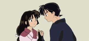 Sango and Miroku by Necrophilliacness