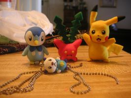 Three random clay pokemon by DanielMejia12