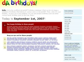 deviantART Birthdays v.6 by birthdays