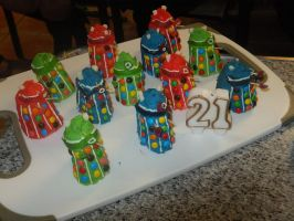 Dalek Cakes by superstar727