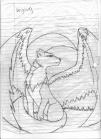 wolf with wings (pencil) by Senackichan