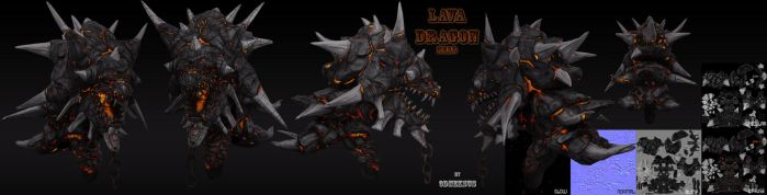 Lava Dragon HeadTextured by 3DNeksus