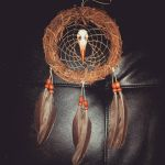 kingfisher birds nest dreamcatcher for sale by inkednativedesigns