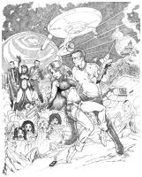 BARBARELLA MEETS KIRK by AllanOtero