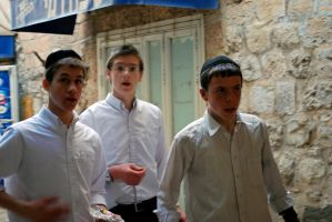 Jewish boys, Jerusalem by dpt56