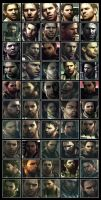 Many Faces of Chris Redfield by maNJini-Lindemann
