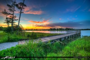 Okeeheelee-Park-Pier-at-Lake-during-Sunset by CaptainKimo
