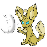 Goldy turned into an...Leafeon ???? by SonilverFanForever