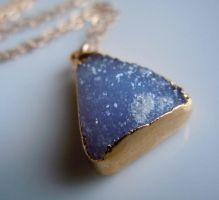 Druzy Necklace in Periwinkle Blue by 443Jewelry