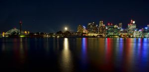 Harbour Moon by FireflyPhotosAust