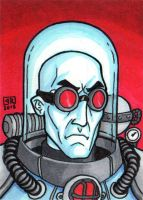 Mister Freeze Sketch Card by TheRigger