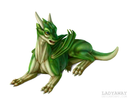 Teen dragon by LadyAway