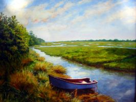 SawGrass on the Marsh by Flaven