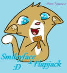 Smileyface loves Flappyjacks by Demon-Tyroski