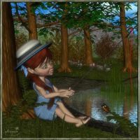 Fishing girl by mininessie66
