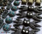 Jack's Bat Bow Tie and Cheshire Cat Charms by Ideationox