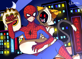 Spider-Man and Another Catgirl by Elias1986
