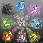 The Eeveelutions by Bluekiss131