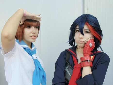 Kill la Kill: Mako and Ryuko by ryouism