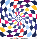 Colorful Spiral Op Art Vector by 123freevectors