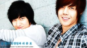 Kim Hyun Joong and Lee Min Ho by x--Cherubeam--x