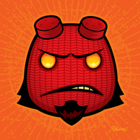 Sackboy Hellboy by fizzgig