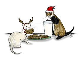 Christmas Cookie Thieves by PaiwaYunder7