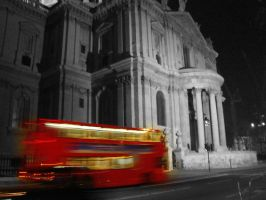Bus on Black and White by TicklishPear