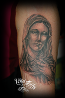 Virgin Mary tattoo by WildThingsTattoo