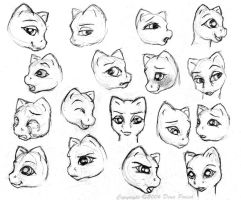 Model face expression by FlyingPony