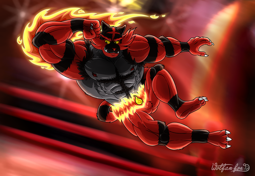 Incineroar Is On FIRE! by Wolfan-foxD