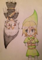 Link and dark link by TheSparkledash