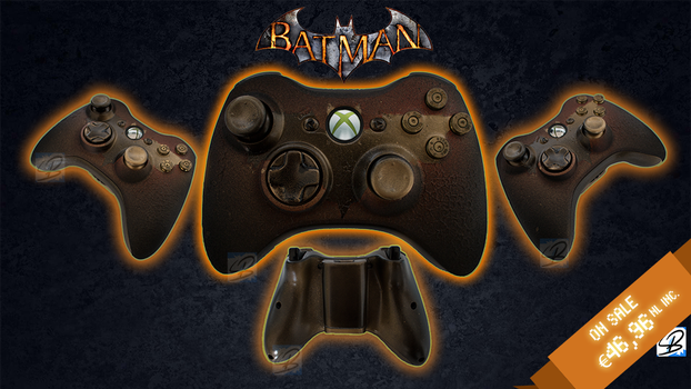Gotham is on Fire - Custom Xbox 360 Joystick SOLD by ricepuppet