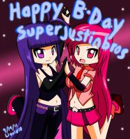 B-Day gift for SuperJustinBros by CDefender-RoboKid