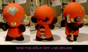Chinabuttah Custom Munny by Pocketowl