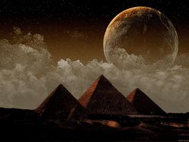 Pyramids at Giza by KDH