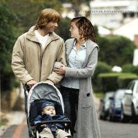 Ron, Hermione and baby by KMeaghan